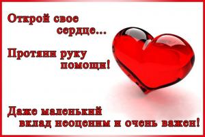 Відкрий серце... простягни руку допомоги